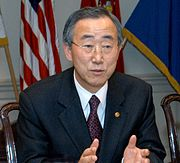 The current Secretary-General, Ban Ki-moon of South Korea