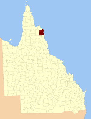 County of Banks, Queensland - Location within Queensland