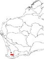 Banksia acanthopoda map.png