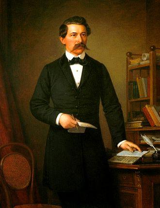 János Arany - Portrait by Miklós Barabás