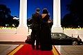Barack and Michelle Obama wave to Shimon Peres.jpg