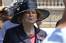 Baroness Thatcher at Buckingham Palace