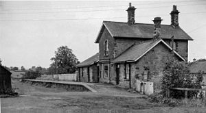 Barrasford railway station - The site of the station in 1962