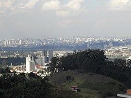 Vista para a capital do estado São Paulo