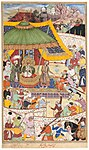 Basawan - The Young Emperor Akbar Arrests the Insolent Shah Abu'l-Maali, page from a manuscript of the Akbarnama - 1919.898 - Art Institute of Chicago.jpg