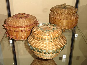 Nipmuc - Examples of Indian baskets at the Danforth Museum in Framingham, Massachusetts.