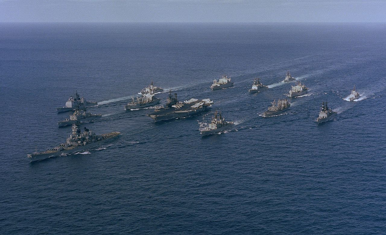 file battle group alpha  midway  iowa  underway  1987 jpg
