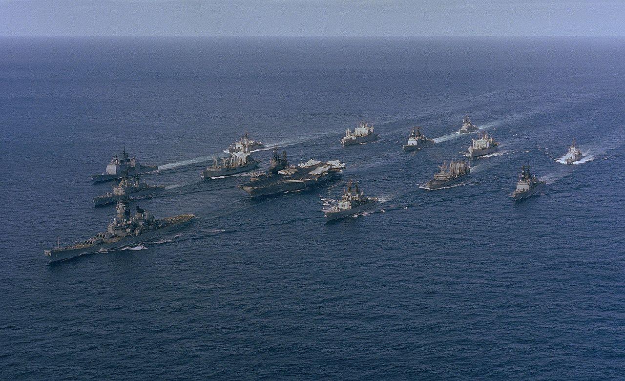 file battle group alpha  midway  iowa  underway  1987 jpg