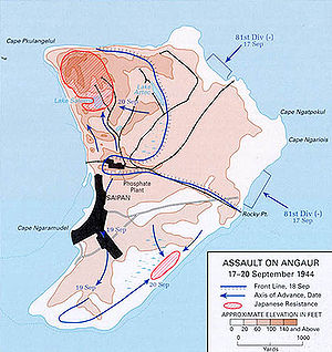 Battle of Angaur - Image: Battle of Anguar map