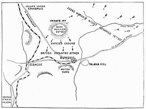 Battle of Talana Hill - Image: Battle of Glencoe Map