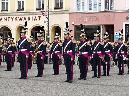 The band of the Bydgoszcz garrison performing on May 3rd Constitution Day, 2014 Bdg Swieto3Maja strRynek 5 2014.jpg
