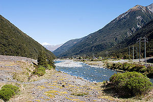 Arthur's Pass - Image: Bealey River at Arthur's Pass