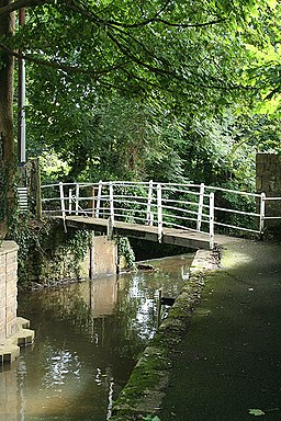 Beaminster, footbridge over the Brit - geograph.org.uk - 922615