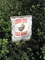 Bee sign - geograph.org.uk - 438513.jpg