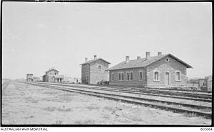 Beersheba Turkish railway station - Beersheba Turkish railway station, 1918