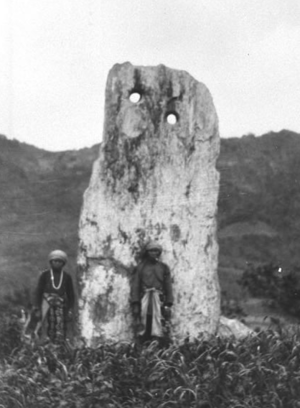 Prehistory of Taiwan - Monolith from the Beinan culture