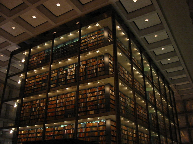 Biblioteca Beinecke de Libros Raros y Manuscritos de la Universidad de Yale. Interior