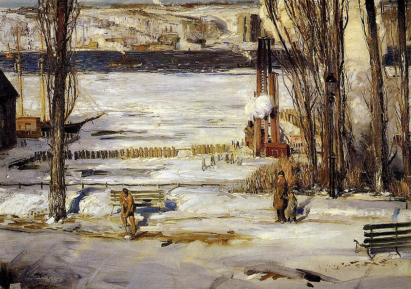 File:Bellows George A Morning Snow Hudson River 1910.jpg