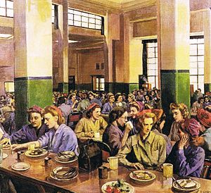 Ethel Léontine Gabain - Women Workers in the Canteen, - The Grosvenor Art Gallery, Chester