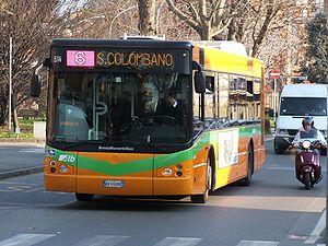Bus in Bergamo, Italy.