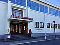 Bergen Kunsthall art gallery and Landmark café in central Bergen, Norway. Entrance of building. Photo 2018-03-18.jpg