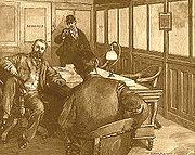 Berkman mit Frick, Zeichnung aus Harper's Weekly