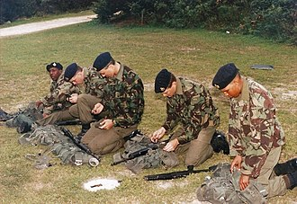 Military of Bermuda - Bermuda Regiment recruits in 1993