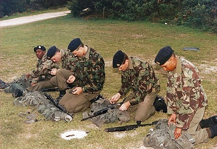 Bermuda Regiment recruits in 1993