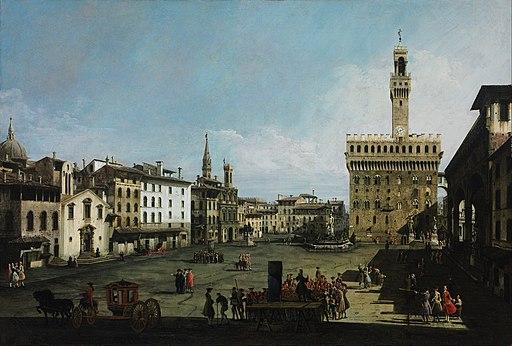 Bernardo Bellotto - The Piazza della Signoria in Florence - Google Art Project