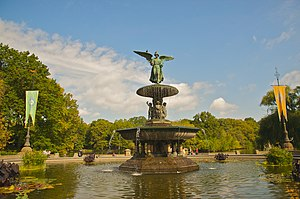 The Amazing Race 1 - The race began at Bethesda Fountain in New York City's Central Park
