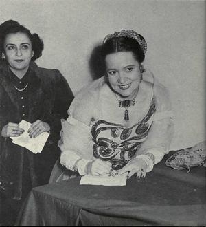 Bidu Sayão - Bidu Sayão during a visit to the University of Michigan. (c.1953)