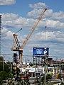 Big construction crane at NW corner of Bonnycastle and Queen's Quay, 2016-08-07 (1) - panoramio.jpg