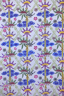 <i>Bingata</i> Traditional resist-dyed fabric originating in the Ryukyuan Islands in Japan