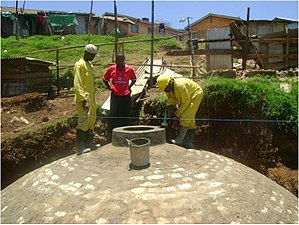 Decentralized wastewater system - Biogas digester for decentralized wastewater treatment at Meru Prison, Kenya