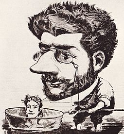 Caricature of Bizet, 1863, from the French magazine Diogene Bizet caricature 1863.jpg
