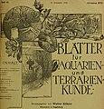 Blätter für Aquarien- und Terrarien-Kunde (1905) (20200217328).jpg
