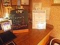 Blackboard and menus on the bar, lounge, Railway Inn, Spofforth, North Yorkshire (14th June 2018).jpg