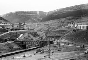 Rhondda and Swansea Bay Railway - Blaengwynfi station and Rhondda Tunnel