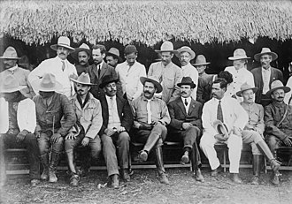 Lucio Blanco - Blanco and staff circa 1913