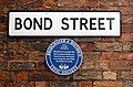 Blue Plaque on Bond Street - geograph.org.uk - 939718.jpg