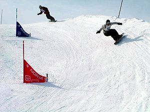 Snowboard cross competition