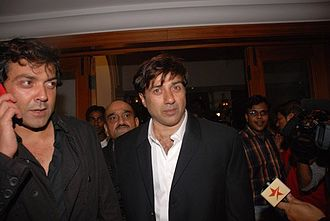 Sunny Deol - Sunny Deol with brother Bobby Deol