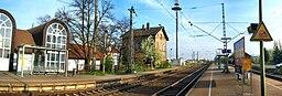 Der Bobenheim-Roxheimer Bahnhof in Rheinhessen (Deutschland)