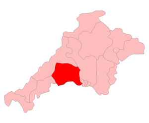 Bodmin by-election, 1922 - The Bodmin constituency in 1922 shown within Cornwall and Devon