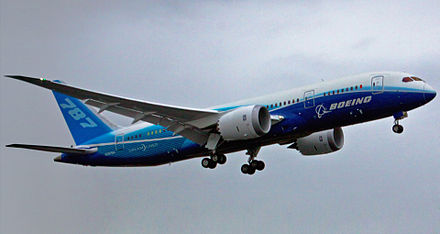 The Boeing 787 Dreamliner on its first flight Boeing 787first flight.jpg