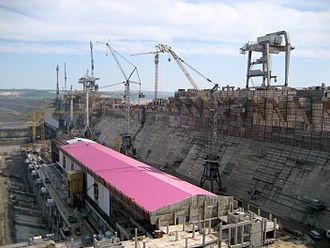 Boguchany Dam - Construction works in 2011