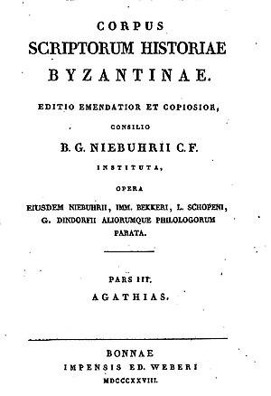 Corpus Scriptorum Historiae Byzantinae - Corpus Scriptorum Historiae Byzantinae