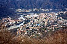 Panorama di Borgosesia dal Monte Fenera