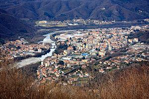 Borgosesia - Borgosesia from  Monte Fenera