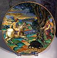 Bottega di maestro andreoli e disegno di francesco x. avelli, piatto con pico, circe e canente, 1528, 01.JPG